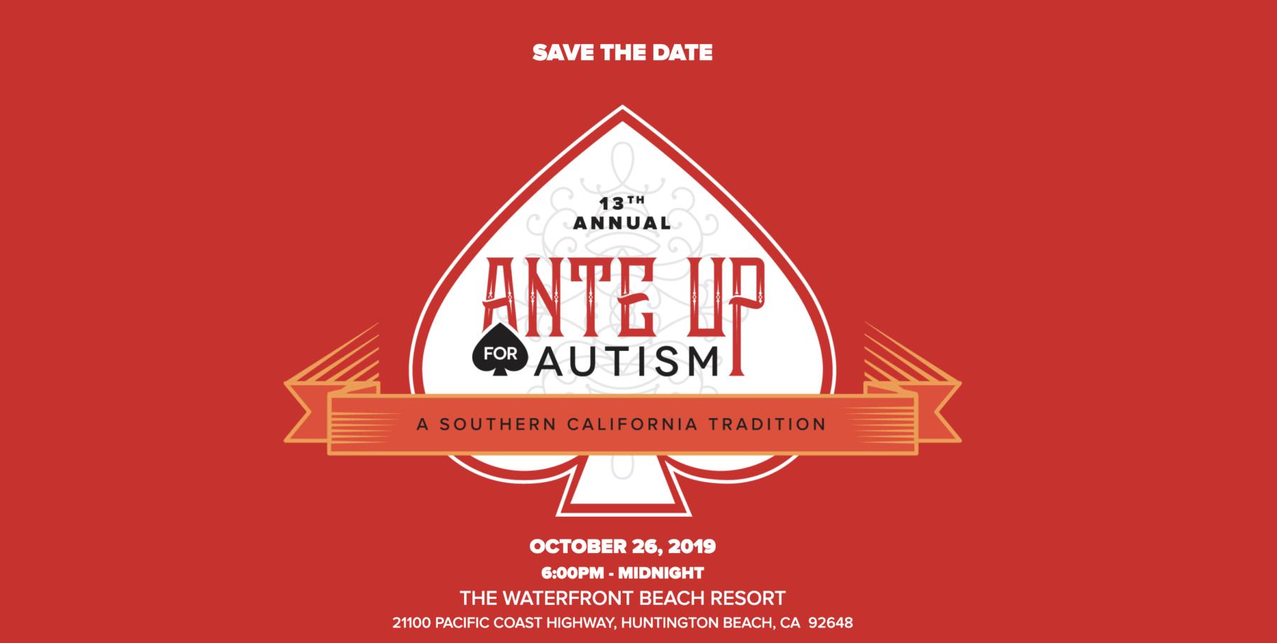 Ante up Autism